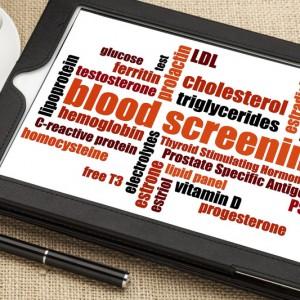blood tests or blood work or blood screening