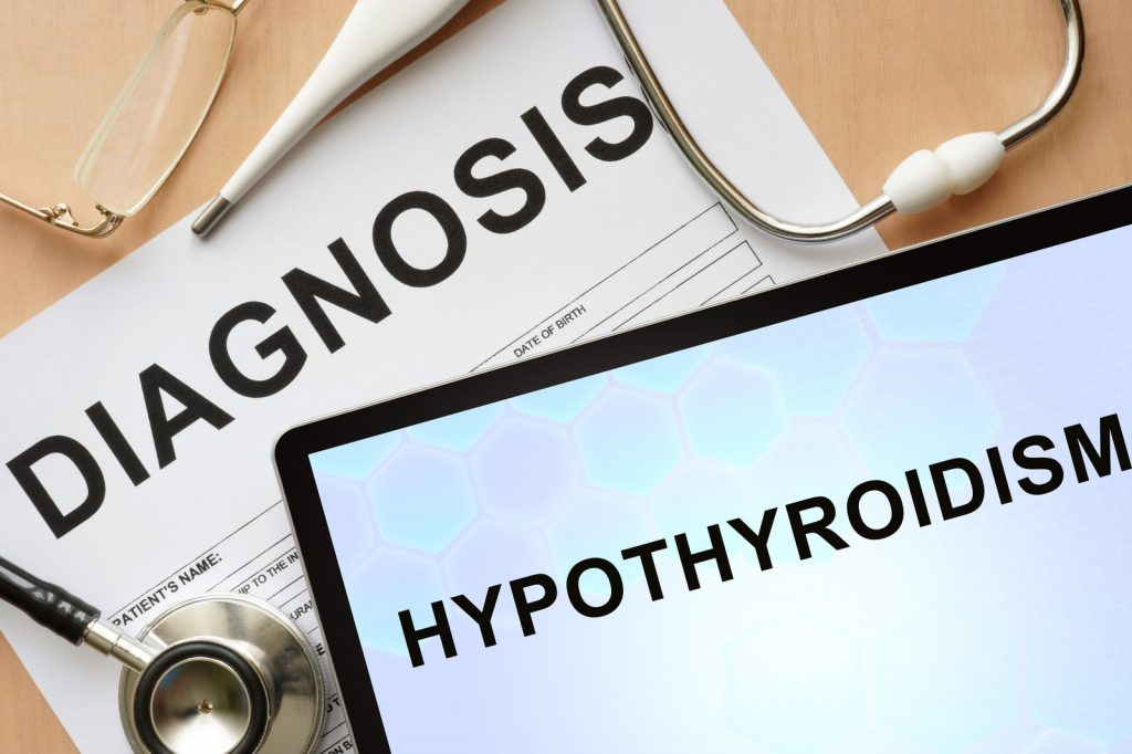 diagnosis of hypothyroid or underactive thyroid or Hashimoto's