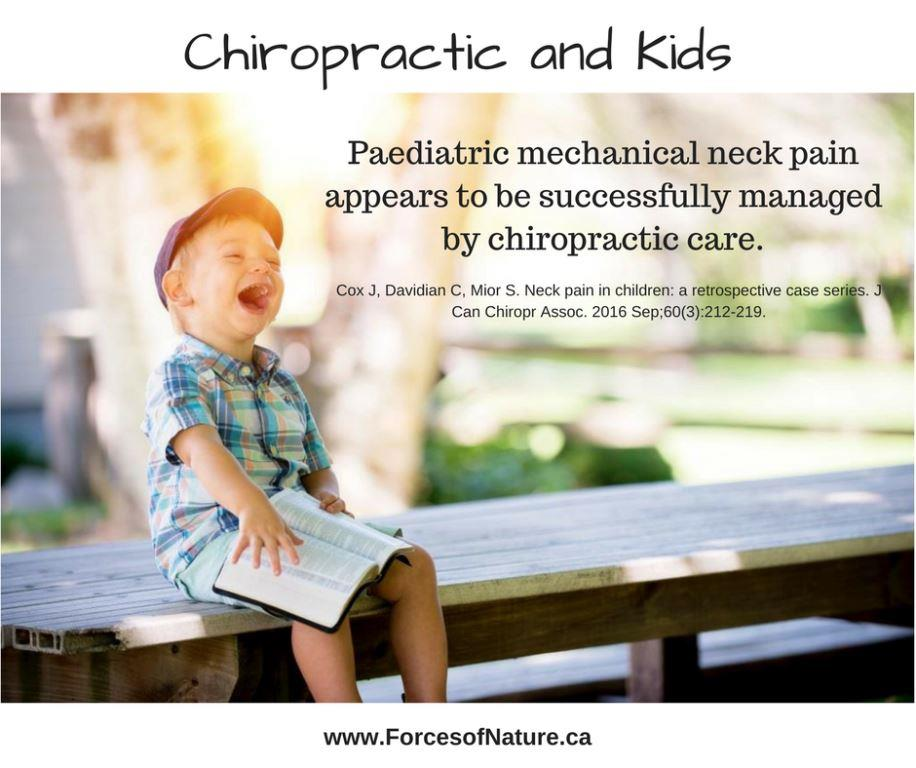 Boy laughing with quote about chiropractic for children
