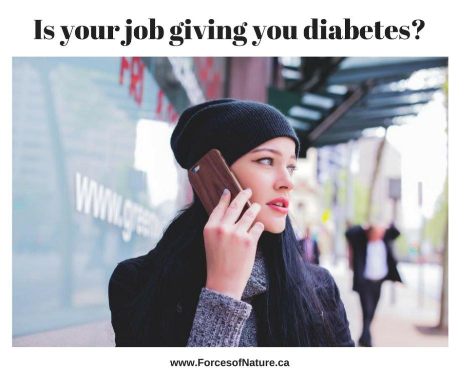 woman with job stress and type II diabetes