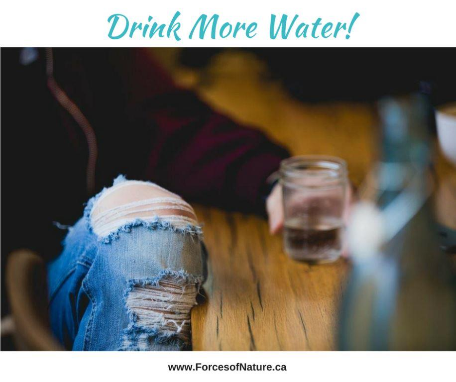 picture of a man trying to drink more water