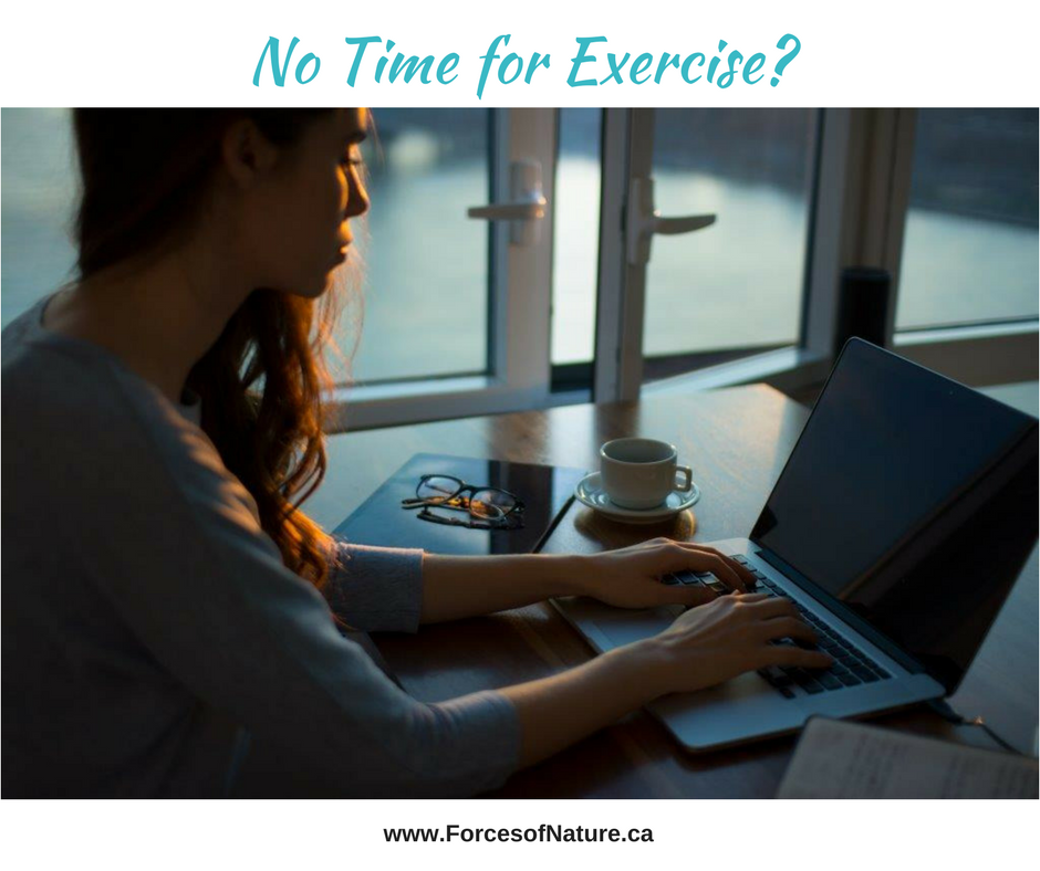 woman with no time for exercise