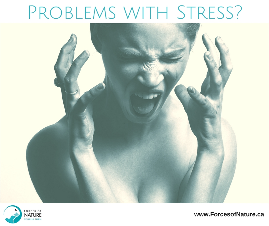 woman showing signs of stress