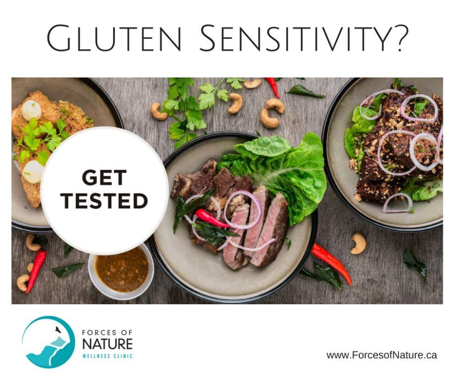 picture saying get tested for gluten sensitivity for gluten free diets