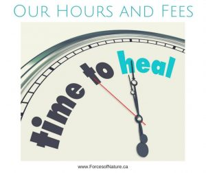 RMT chiropractor acupuncture naturopath fees and hours