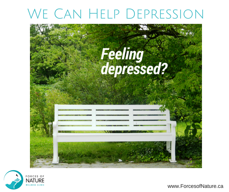 depression pic of bench with the words feeling depressed