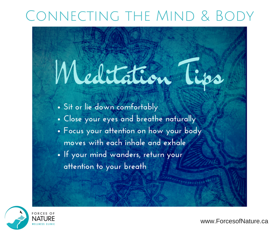 pic of meditation tips to connect mind-body