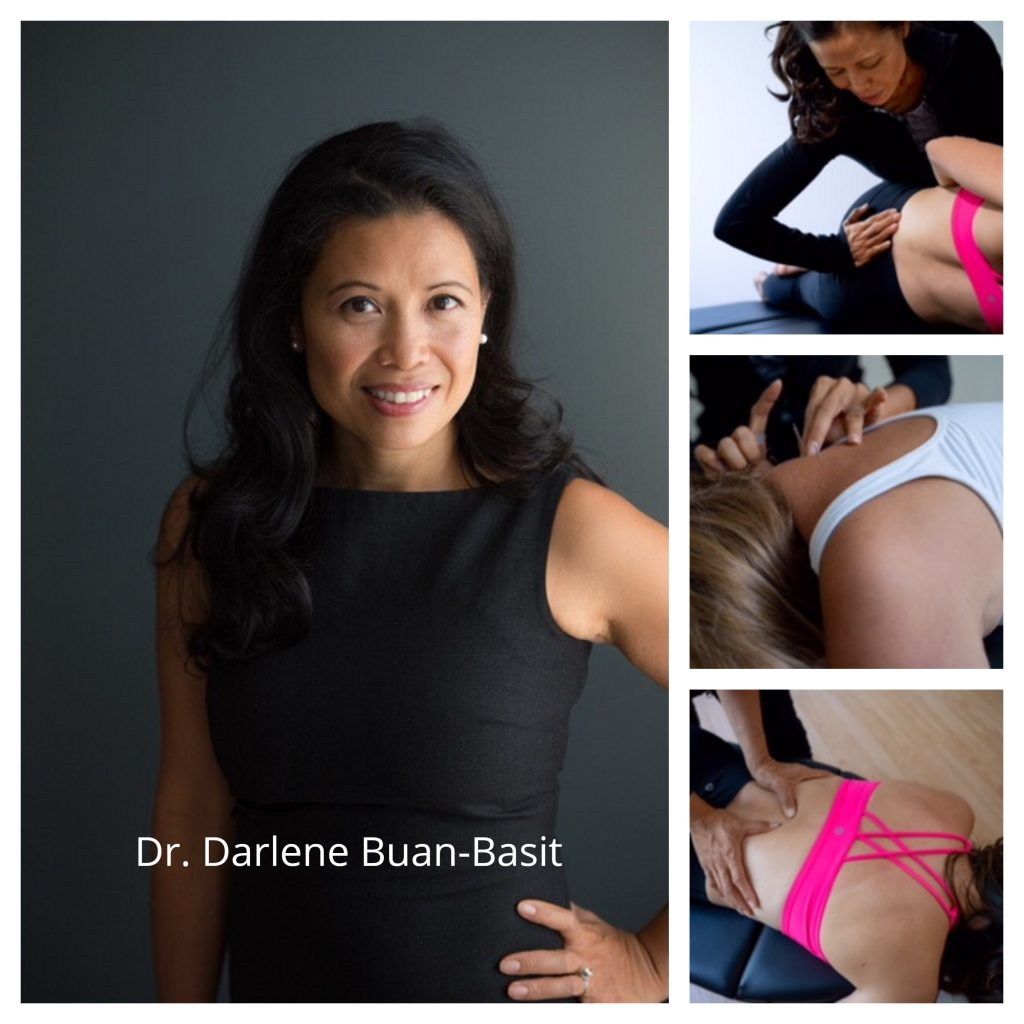 picture of chiropractor Dr Darlene Buan-Basit providing pain relief and acupuncture