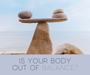 pic showing rocks balancing with words is your body out of balance