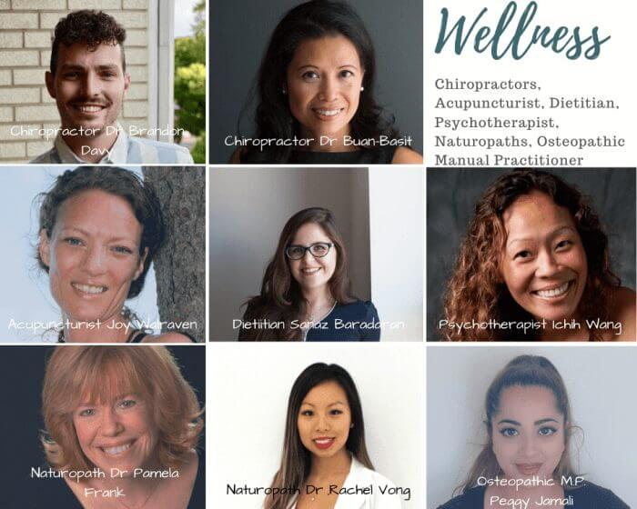 wellness clinic doctors chiropractors acupuncturist dietitian psychotherapist naturopaths osteopath